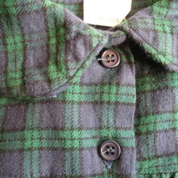 80〜90's flannel plaid dress