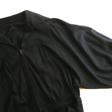 70's black one-piece dress