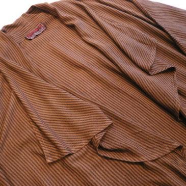 used stripe long coat