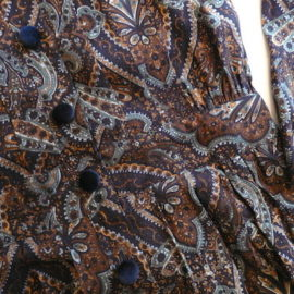 80's paisley rayon one-piece dress