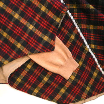 60〜70's plaid wool  cape