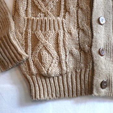 70's sears shawl collar cardigan