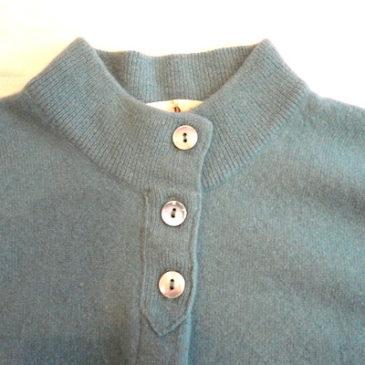50's cashmere cardigan & velvet skirt