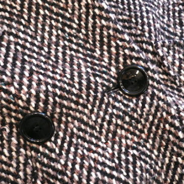 80's double-breasted tweed  coat