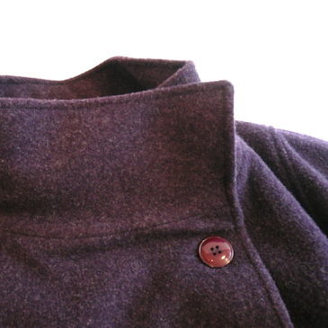 Late 70's purple wool kape