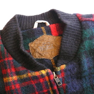 90's Woolrich plaid zip-up blouson