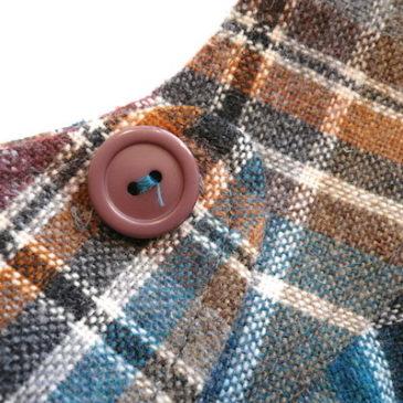 70's plaid jumper skirt