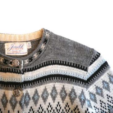 60's nordic knit cardigan