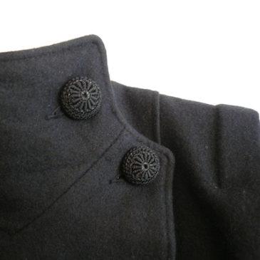Late 70〜80's black wool coat