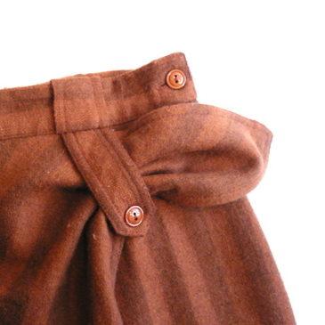 80's wrap skirt & mohair sweater