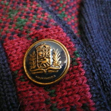 80's Pendleton knit cardigan & pleated skirt