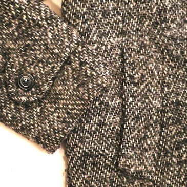 80's tweed wool coat