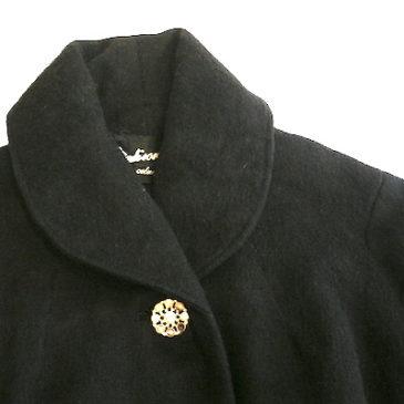 50〜60's black A-line coat