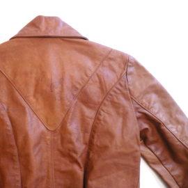 70's natural comfort leather JKT