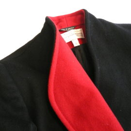 late70's 〜80's red black wool coat