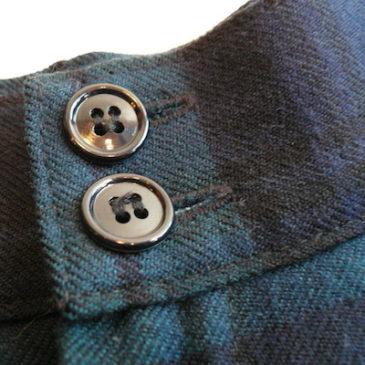 60〜70's Brown mohair cardigan & 90's plaid pants
