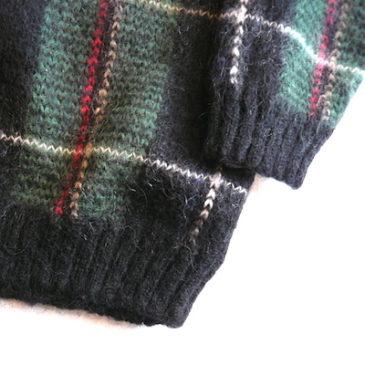 90's plaid mohair sweater &  Giorgio di Sant'Angelo pants