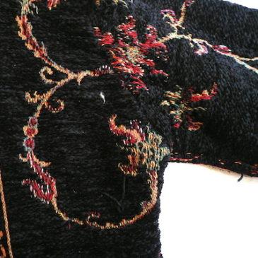 80〜90's  gobelin short JKT & denim skirt