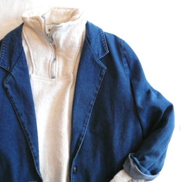 80〜90's denim JKT & Mexican zip up pull over