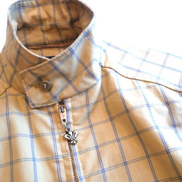 60〜70's windowpan check drizzler jacket