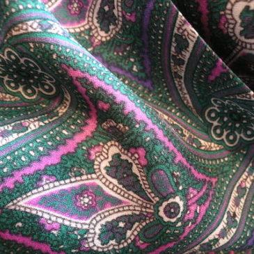 50's paisley silk dress