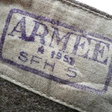 50's military wool liner coat