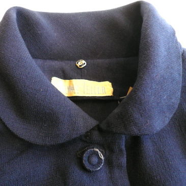 50's navy wool dress