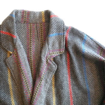 80's mult color stripe JKT