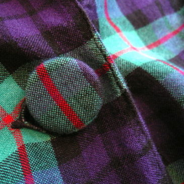80〜90's plaid rayon JKT & linen skirt
