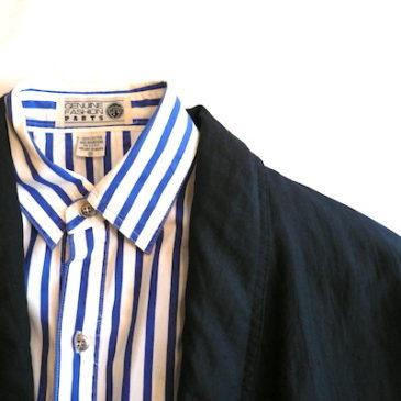 80's black nylon big JKT & stripe shirts