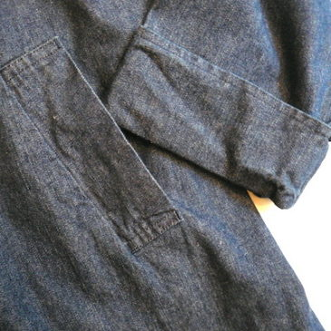 used denim coat & pants