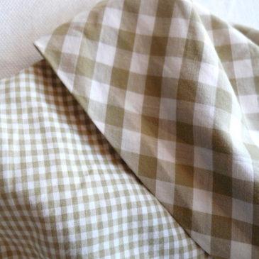 60's gingham check cotton dress