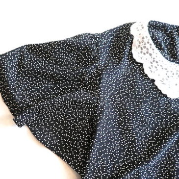 Ready for golden week?☆70's lace collar dot dress