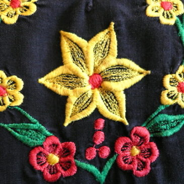 70〜80's embroidery resort dress