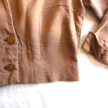 50's orange beige short JKT