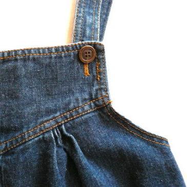 ☆We will be closed tomorrow☆80〜90's denim jumper skirt