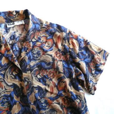 90's rayon shirt & linen pants