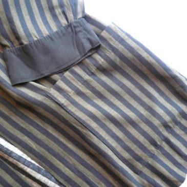 80's stripe rayon JKT