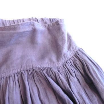 Used lavender gauze skirt & hand woven tops