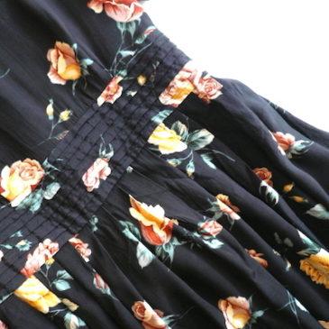 90's rose printed dress