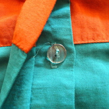 80〜90's terra cotta green bi-color tops & navy maxi skirt