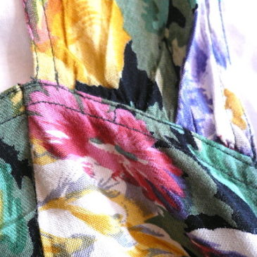 90's floral print bustier dress