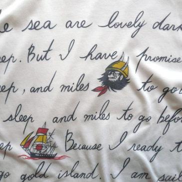 80's pirates T-shirts & stripe skirt