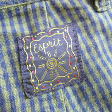 80〜90's cropped blouse & ESPRIT pants