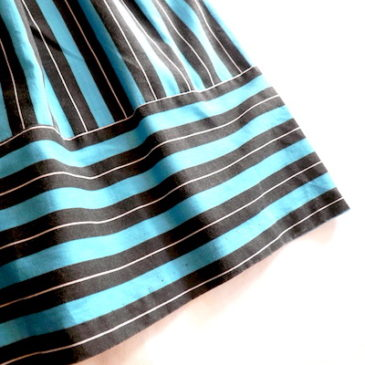 70's blue black stripe dress