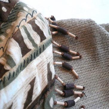 80's wood beads dress