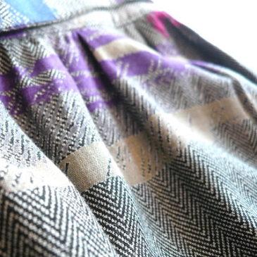 80's high waist rayon skirt