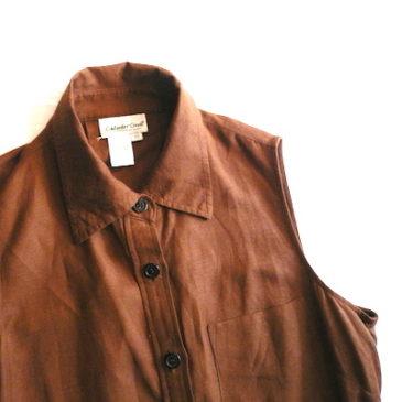 90's brown sleeveless dress