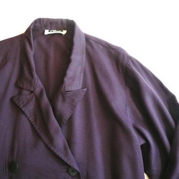 90's purple rayon coat one-piece dress