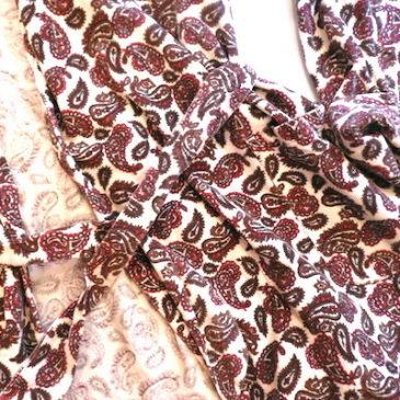 80's paisley corduroy robe